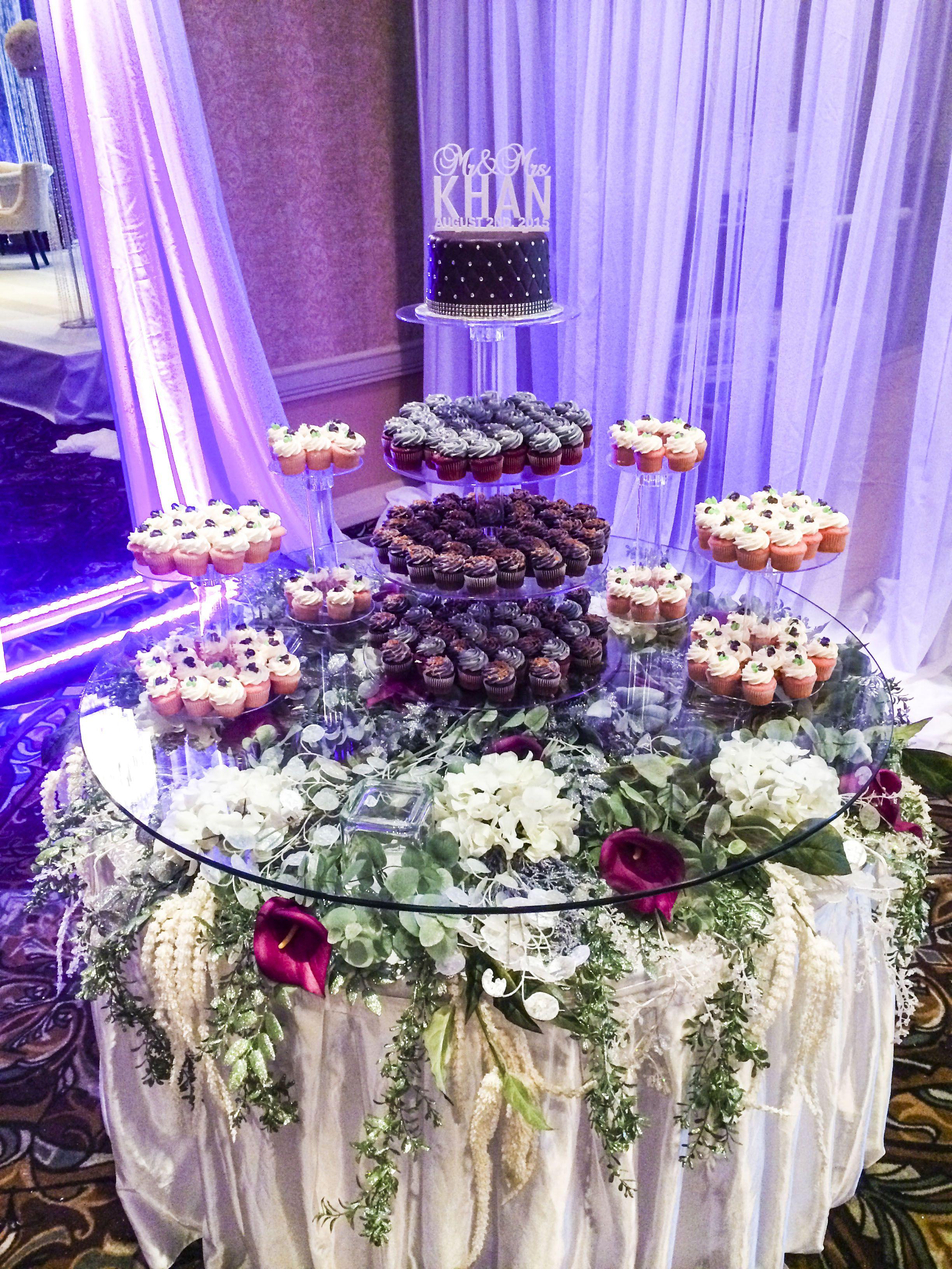 Grand Elegant Bling Wedding Cake Table Lachefs Lachefsdecor Decor Purple Sil Elegant Wedding Centerpiece Wedding Cake Elegant Bling Wedding Decor Elegant