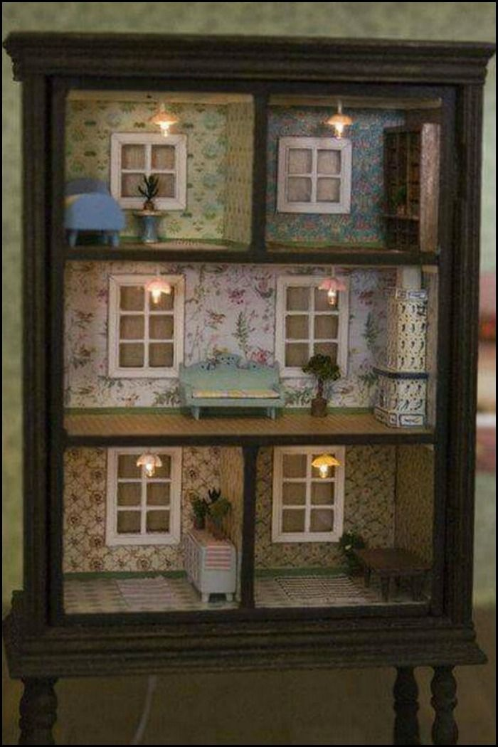 Turn An Old Dresser Into A Doll House Ideas For Kids