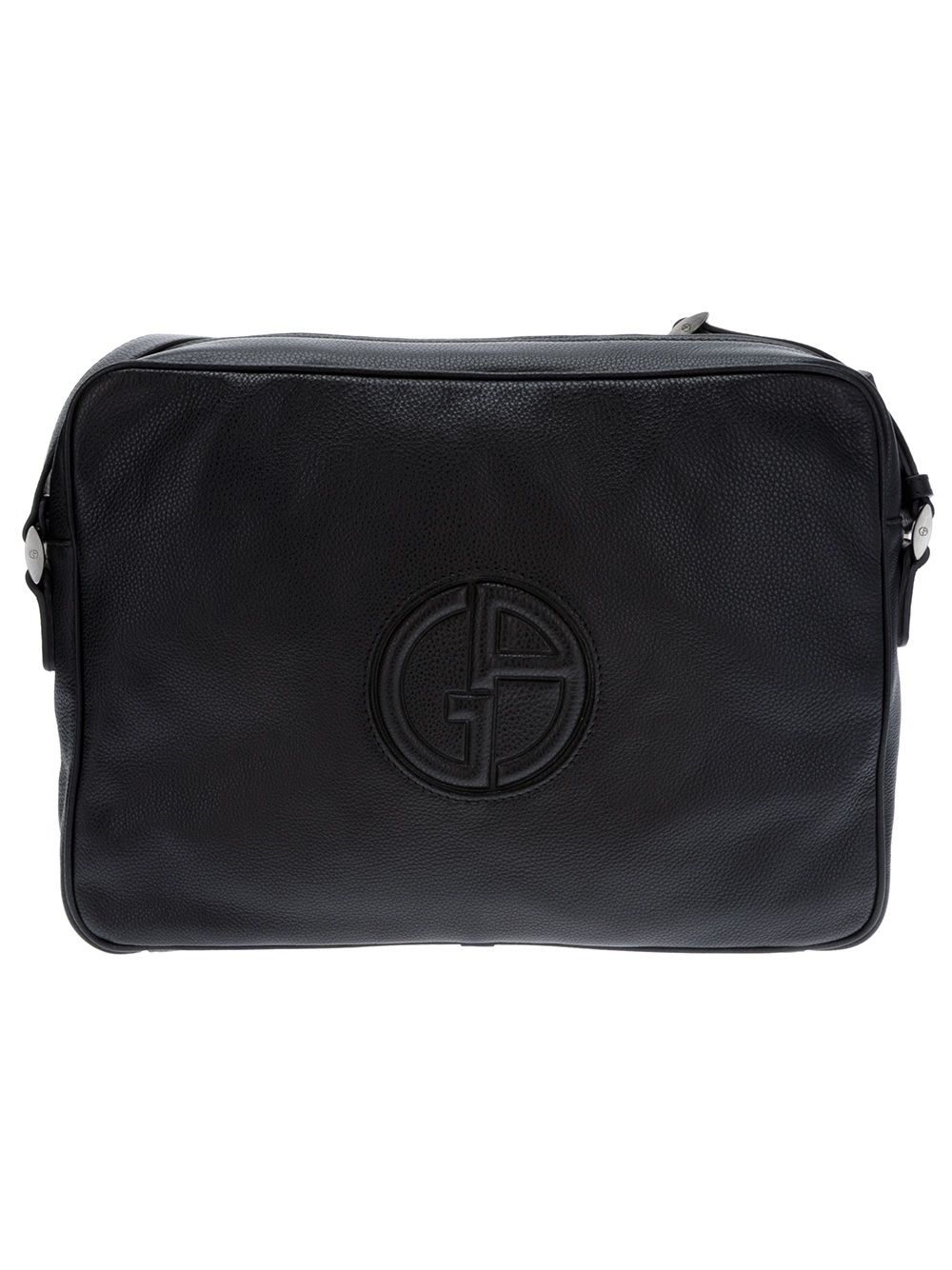 01691269f375 Giorgio Armani Leather messenger bag   GIORGIO ARMANI   Giorgio ...