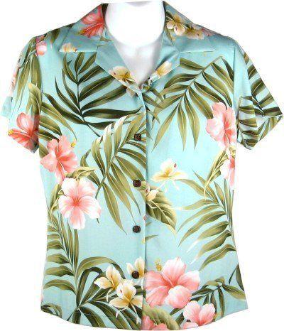 Hibiscus and Orchids Hawaiian Shirts - Womens Hawaiian Shirts - Aloha Shirt - Hawaiian Clothing - 100% Rayon Aqua Medium RJC,http://www.amazon.com/dp/B00CCVF9ZG/ref=cm_sw_r_pi_dp_9KSIrb3ABA2047BB