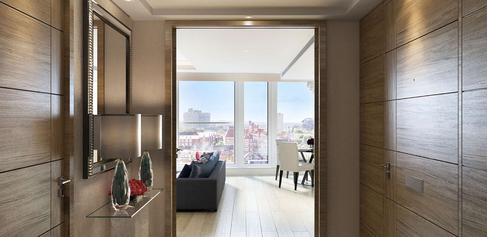 Superbe St Edward, 375 Kensington High Street, Benson House, Apartment Hallway, CGI,