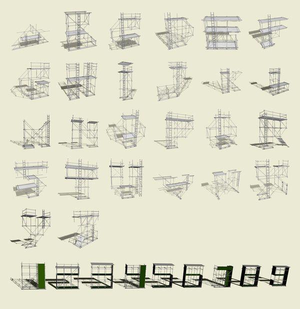 Scaff By Raph Basckin Shelley Smoler Nadja Lossgott On Behance Scaffolding Design Architecture Presentation Design Competitions