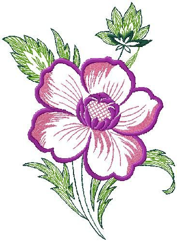 Flower embroidery design for free download machine