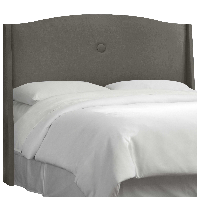 ANGELOHOME angelo:Home Slate Linen/Polyester Single -button Headboard (King, Slate), Grey