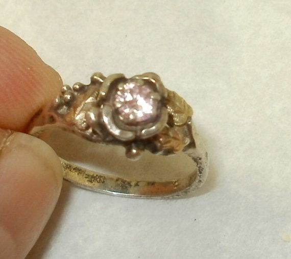 Sterling Silver Black Hills Gold Ring with Center by griffincat