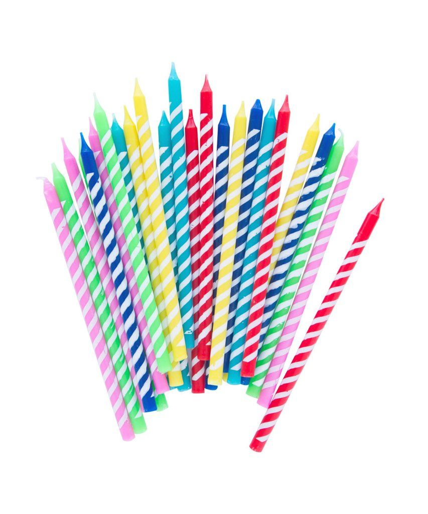 Stripe Party Candles