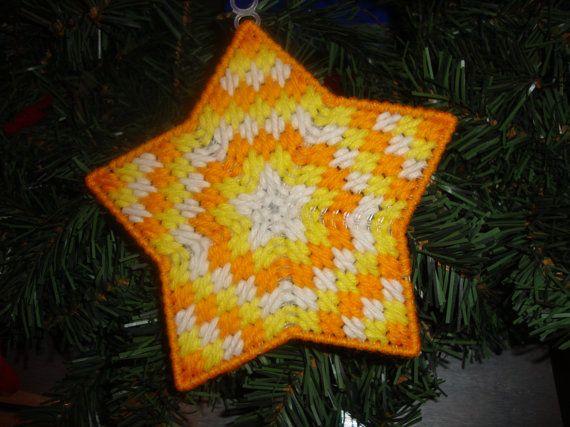 Star OrnamentOrange/Yellow by MastersCreations on Etsy, $4.00