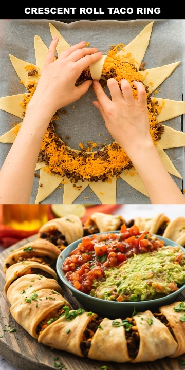 Crescent Roll Taco Ring Appetizer