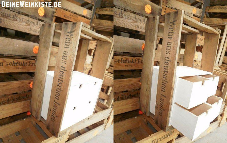 Weinkisten IKEA Hack: Mini Kommodo MOPPE in Weinkiste