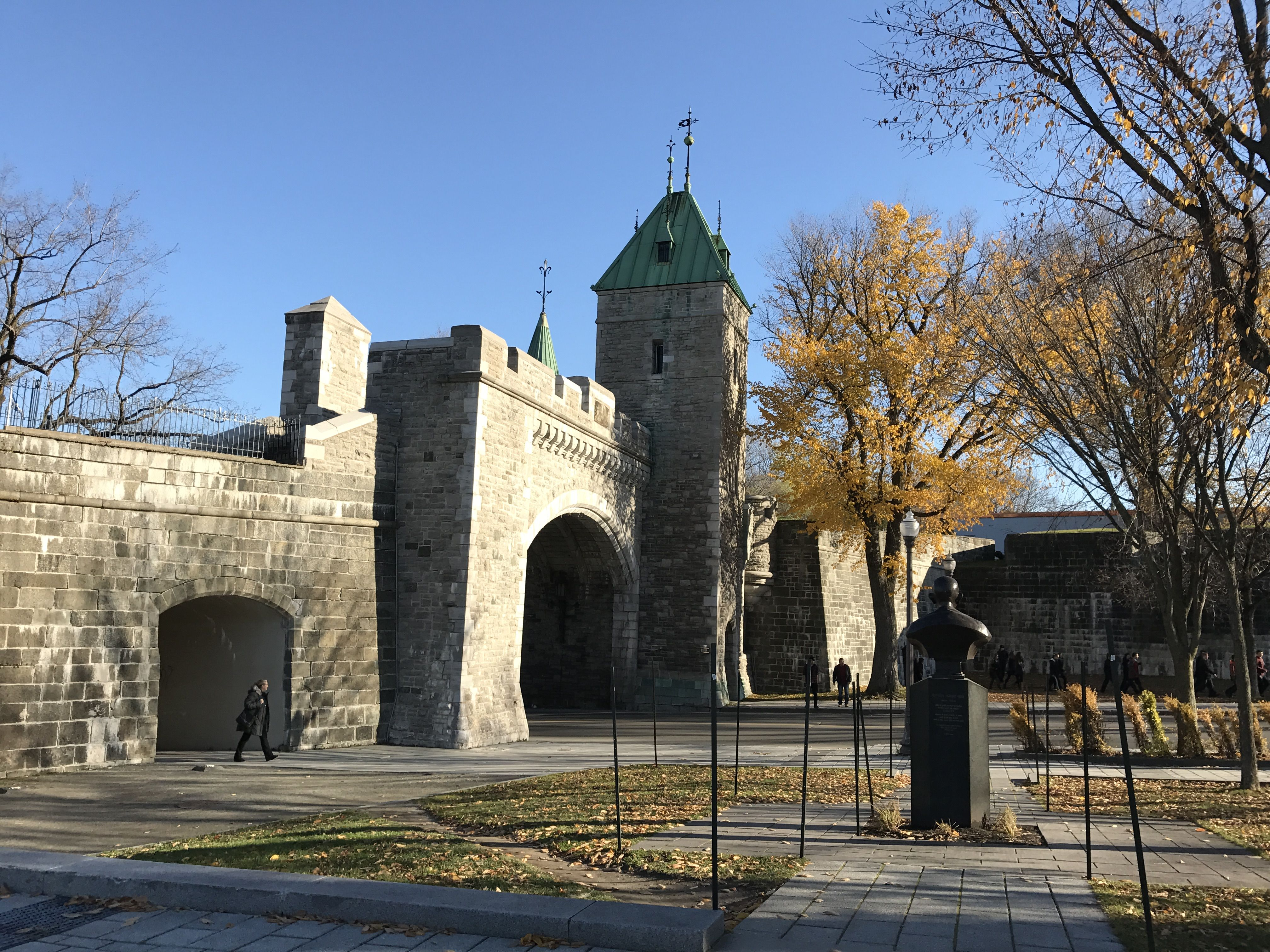 I was told everything cool is inside the wall of Old Quebec City.