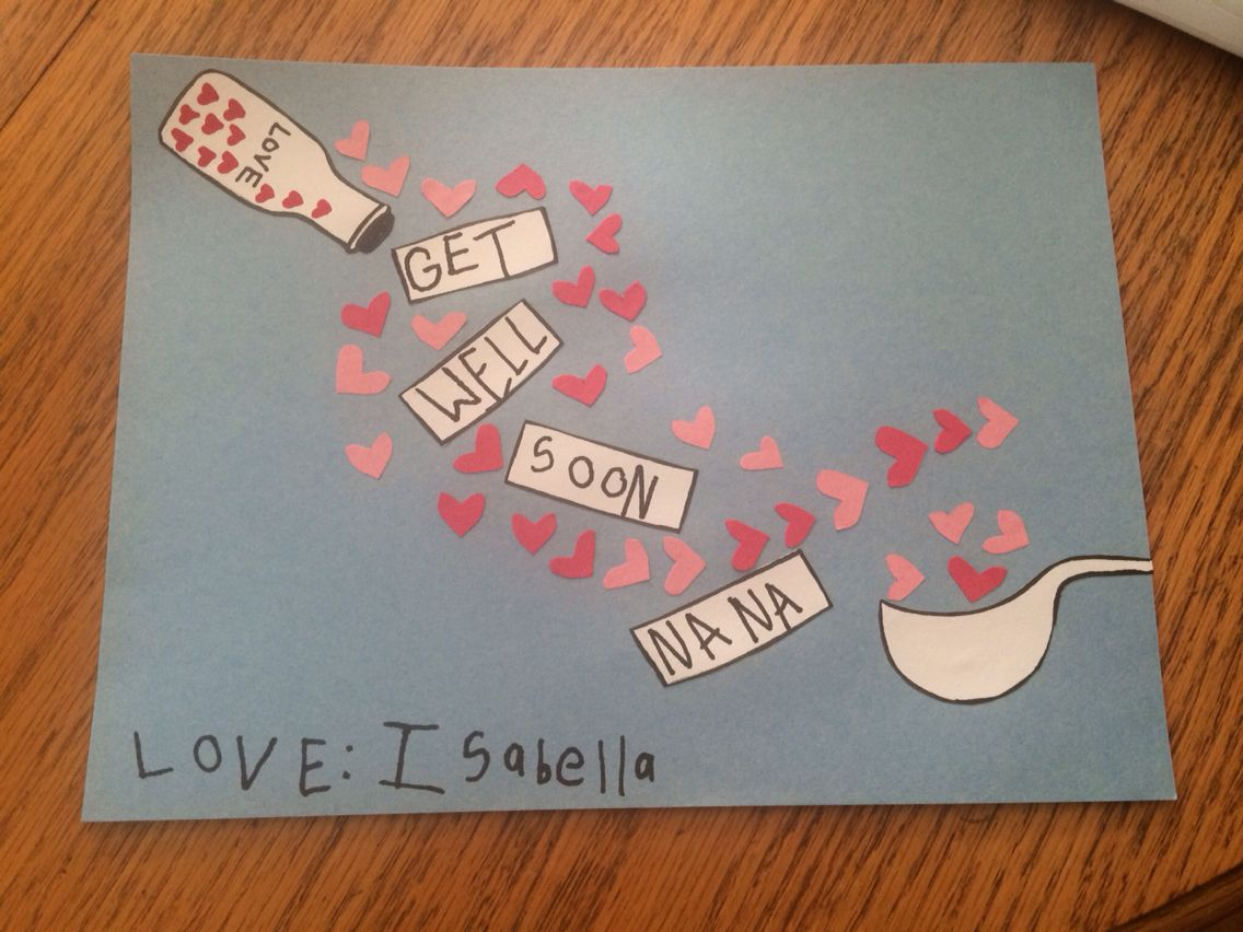 get well soon card! | jen's miscellaneous toddler art | pinterest
