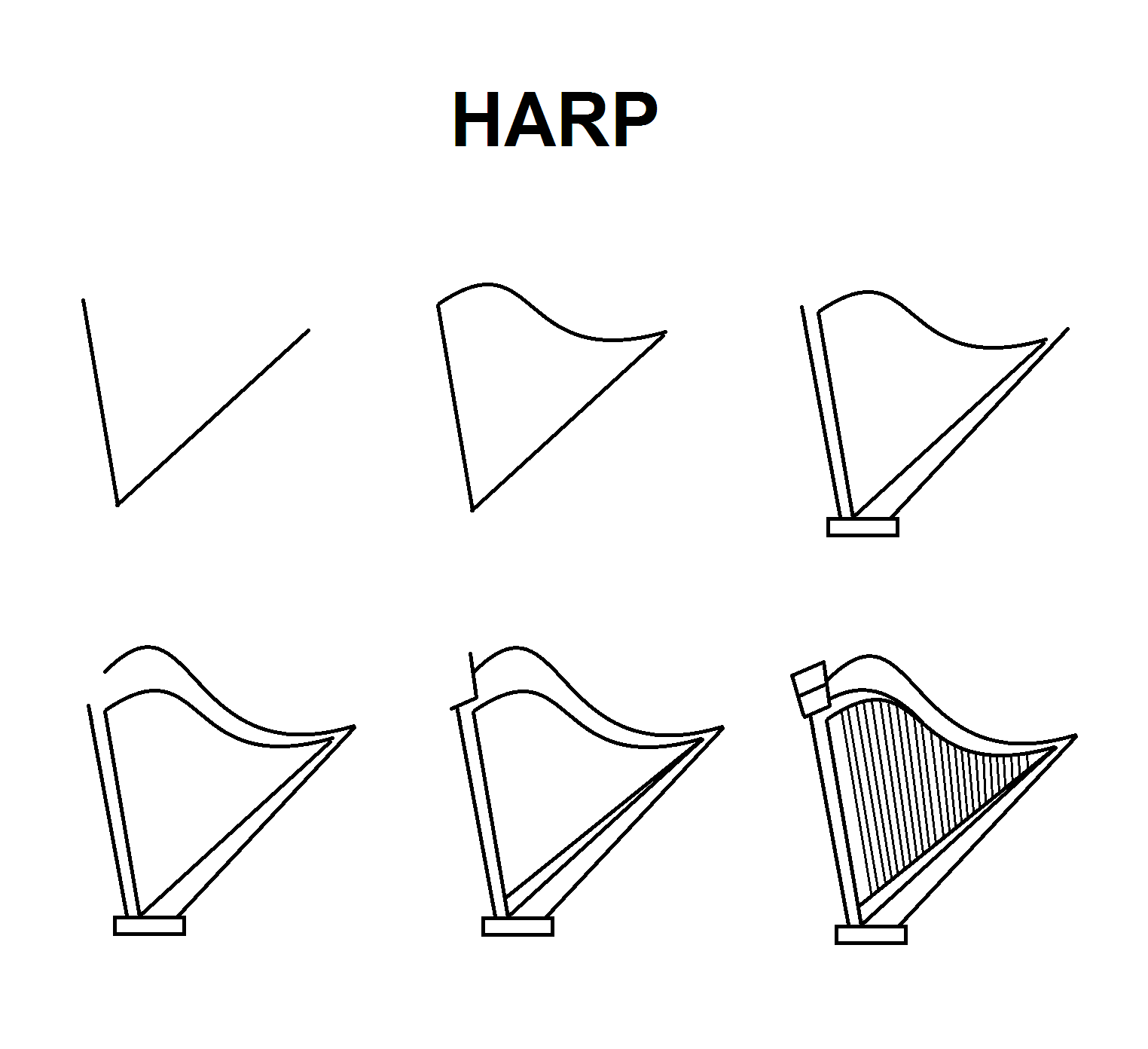 Step By Step Tutorial For A Harp