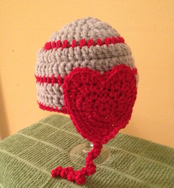 480603add8a Crochet Heart Hat