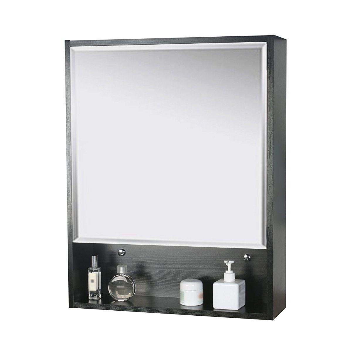Mirror Storage Wood Adjustable Wall Mounted   Bathroom Mirror ...