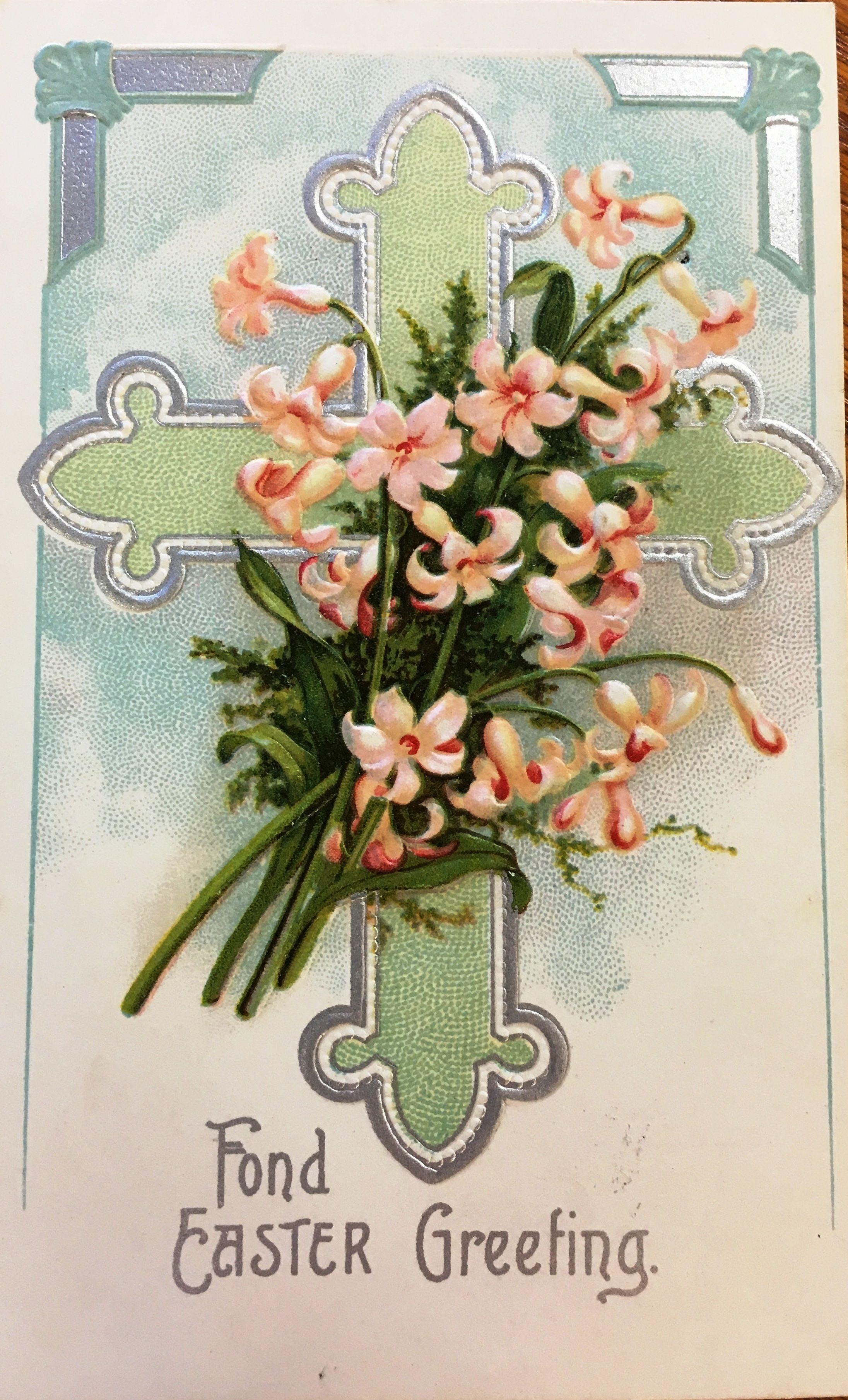 Antique easter greeting card vintage easter vintage