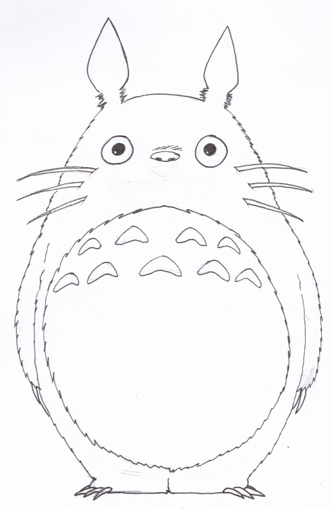 Orig03 Deviantart Net 42b0 F 2013 168 4 B Lineart Totoro By Silveru121 D69isz9 Jpg Totoro Drawing Totoro Studio Ghibli Art [ 1709 x 1113 Pixel ]