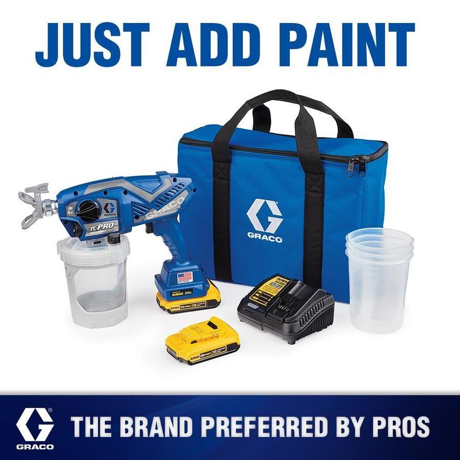 Graco tc pro cordless handheld airless paint sprayer lowes