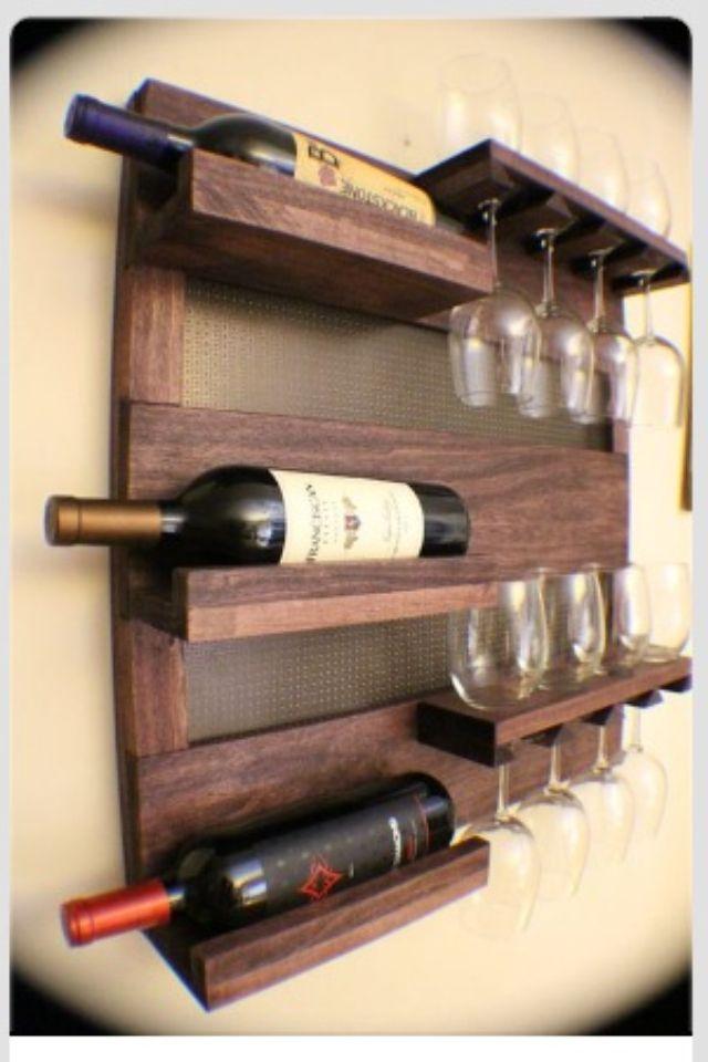 Bricolage Avec Images Etageres A Bouteilles De Vin Casier A Bouteille Idees Pour La Maison