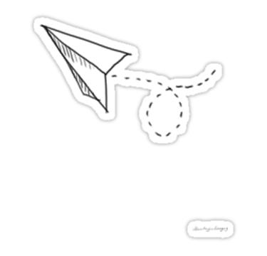 Paper airplane Sticker