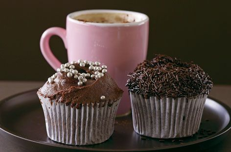 chocolate cupcakes with real chocolate