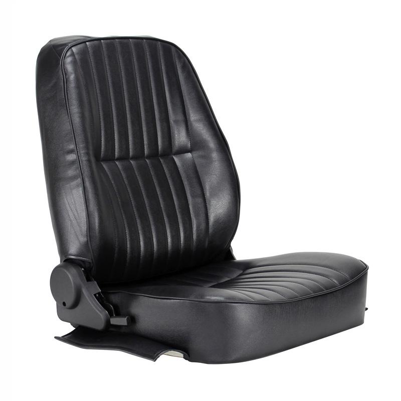 Empi Race Trim Black Vinyl Reclining Low Back Bucket Seat Right Bucket Seats Vw Bug Interior Black Vinyl