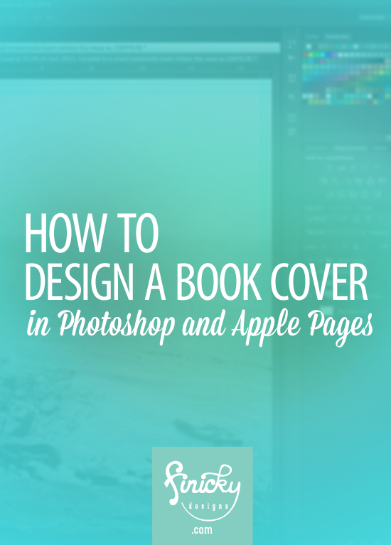 how to design a book cover in photoshop and apple pages self