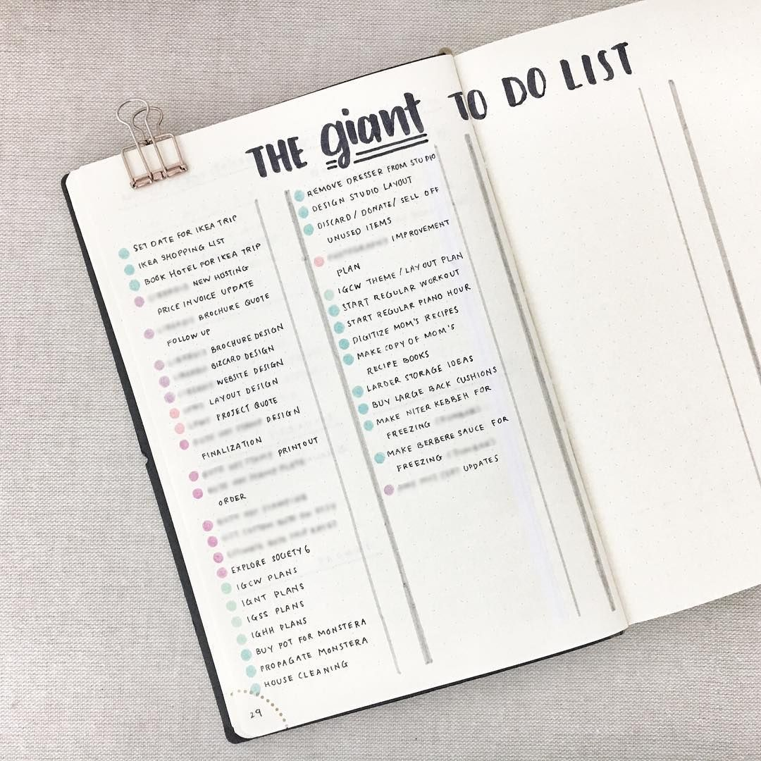 bullet journal master task list bullet journal giant to do list
