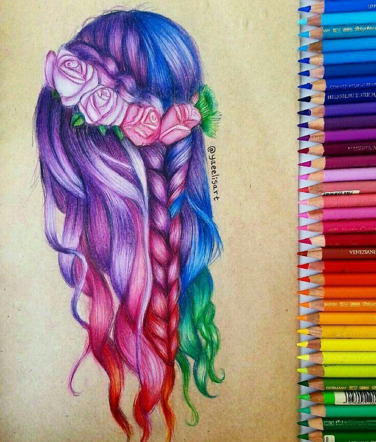 Красивые рисунки | Красивые Рисунки | Pinterest | Dibujo, Peinados y ...