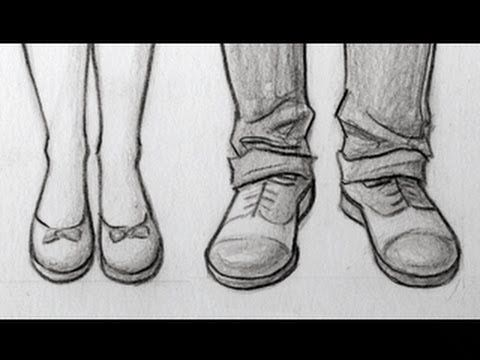 How To Draw Shoes This Tutorial Will Show You How To Draw High Heels Tennis Shoes Sandals And Men S Shoes Let S Begin Shoes Drawing Feet Drawing Drawings