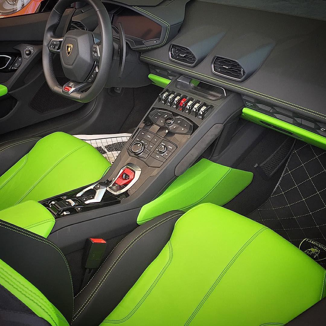 Cheap Used Lamborghini Gallardo For Sale: Huracan Lamborghini Spyder Lime Green And Black Interior