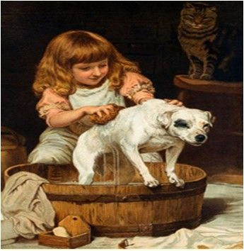 """""""The order of the Bath"""" Charles Burton Barber Oil on canvas  what I'll do for you."""