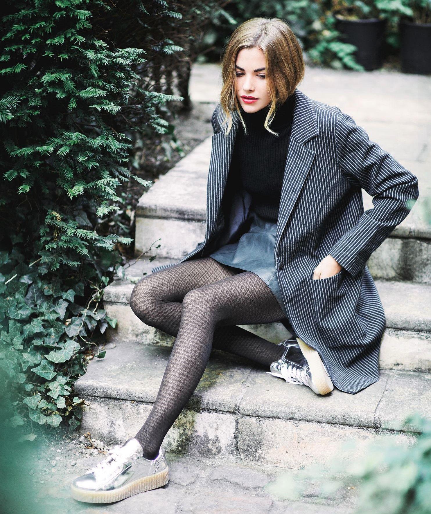 Schwarze Hot ModelWomen's Fashion Random Strumpfhosen 29WEDHI