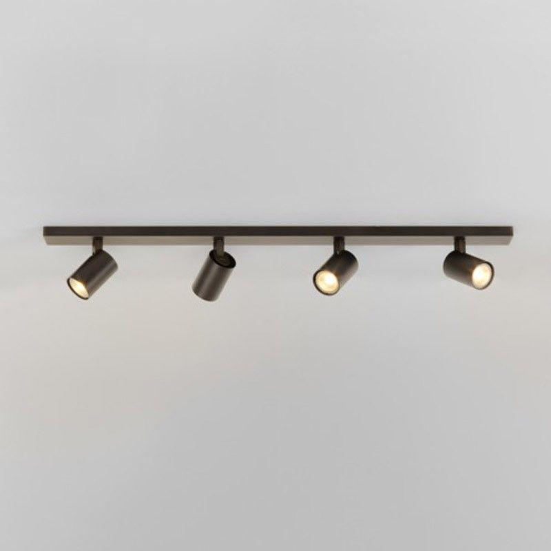 Four Bronze Spotlights On A Single Bar Singlespotlightsforkitchen