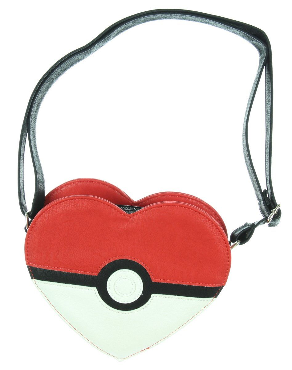 Loungefly Pokemon Heart Shaped Pokeball Faux Leather Coin Bag