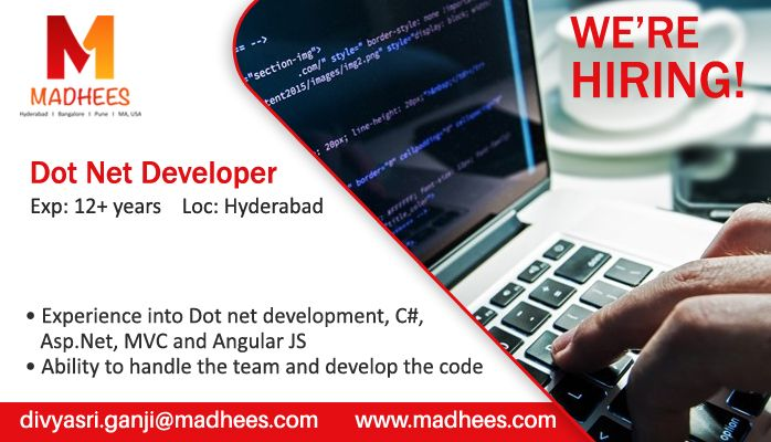 Weu0027re Hiring! #DotNetDeveloper with 12+ years experience in - angularjs resume