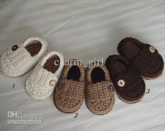 FREE SHIPPING-crochet baby boy shoes boy 100% knitted booties ...