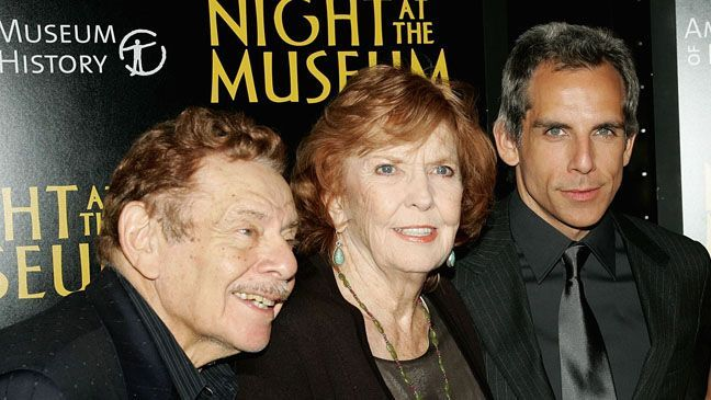 Anne Meara Night At Museum Ben Stiller Anne Meara And Jerry
