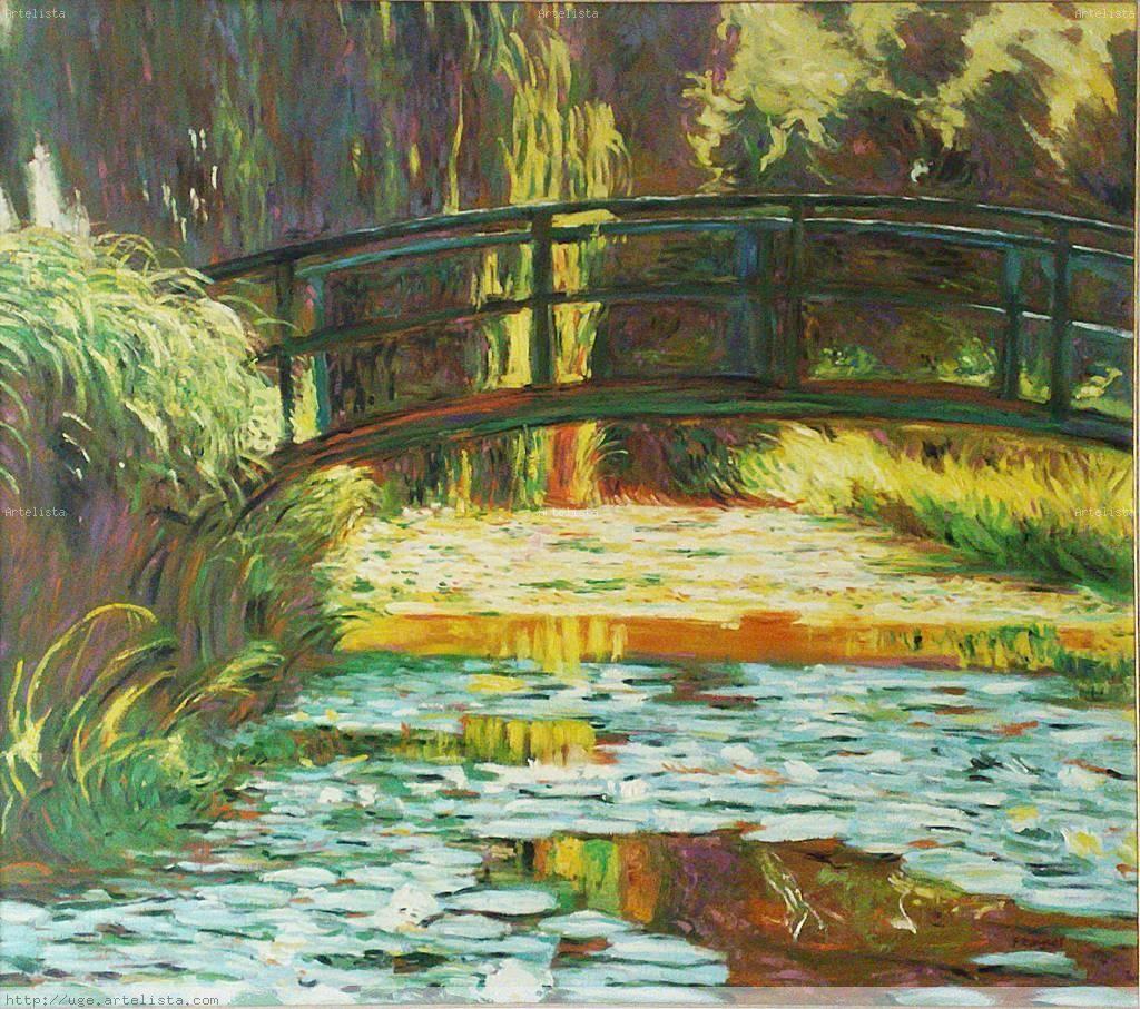 Monet puente japones water lilis pinterest claude for Vater japones