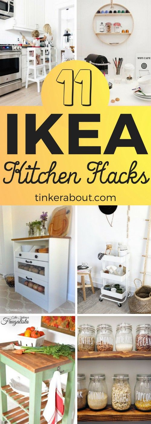 11 IKEA Kitchen Hacks For A More Organized And Beautiful Kitchen is part of  - Ikea hacks are such an easy way to instantly upgrade your home! These Ikea Kitchen Hacks will help you to upgrade your Kitchen!