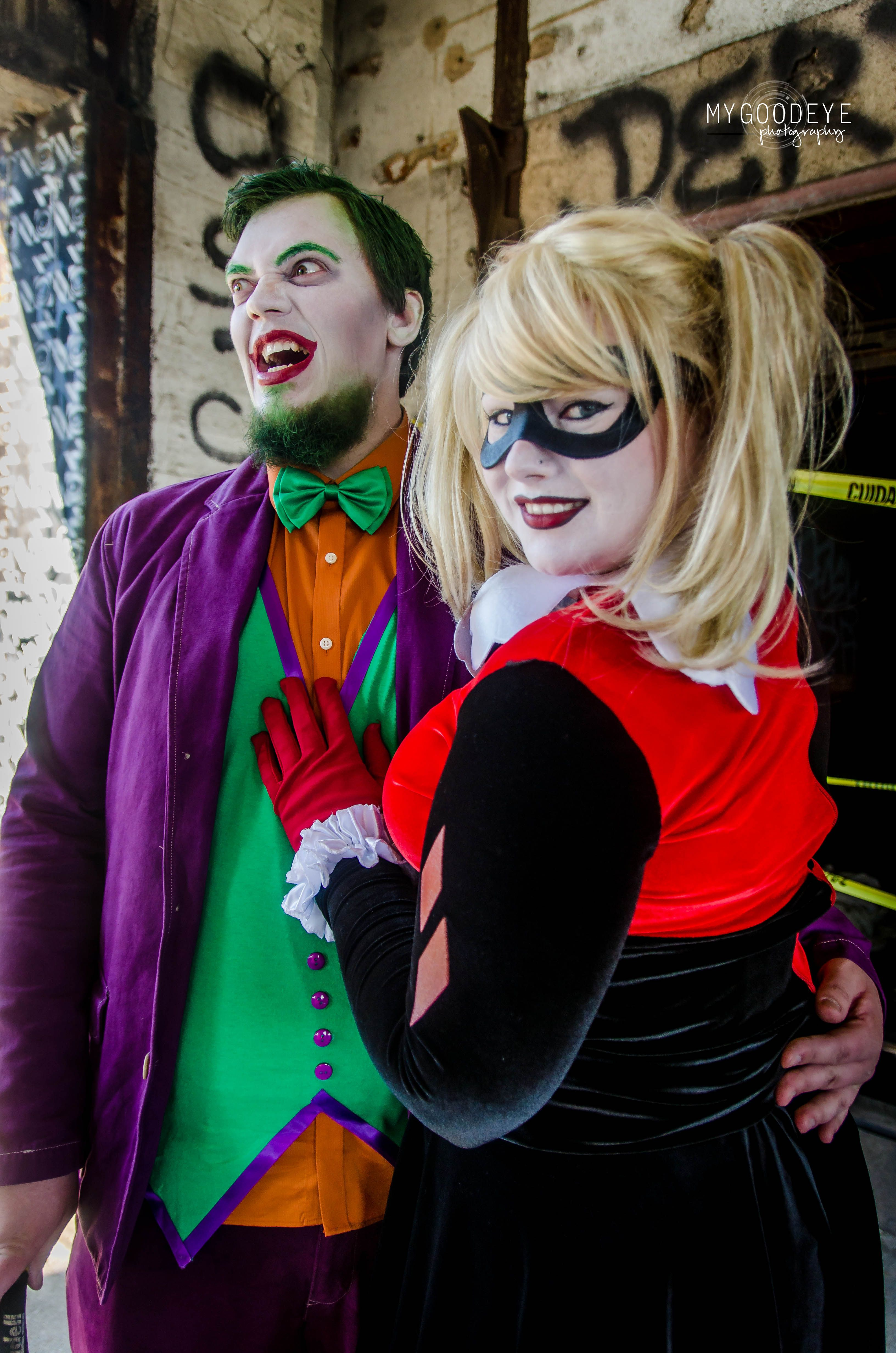 the joker and harley quinn cos play photo shoot photographer felicia cracchiolo st - The Joker And Harley Quinn Halloween Costumes