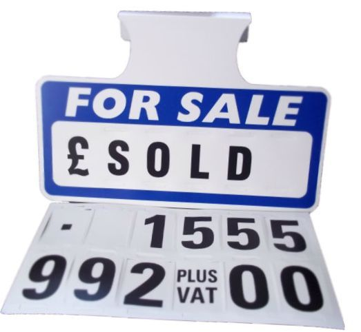 Clear White And Blue Car For Sale Sign Background Photo Of Car For