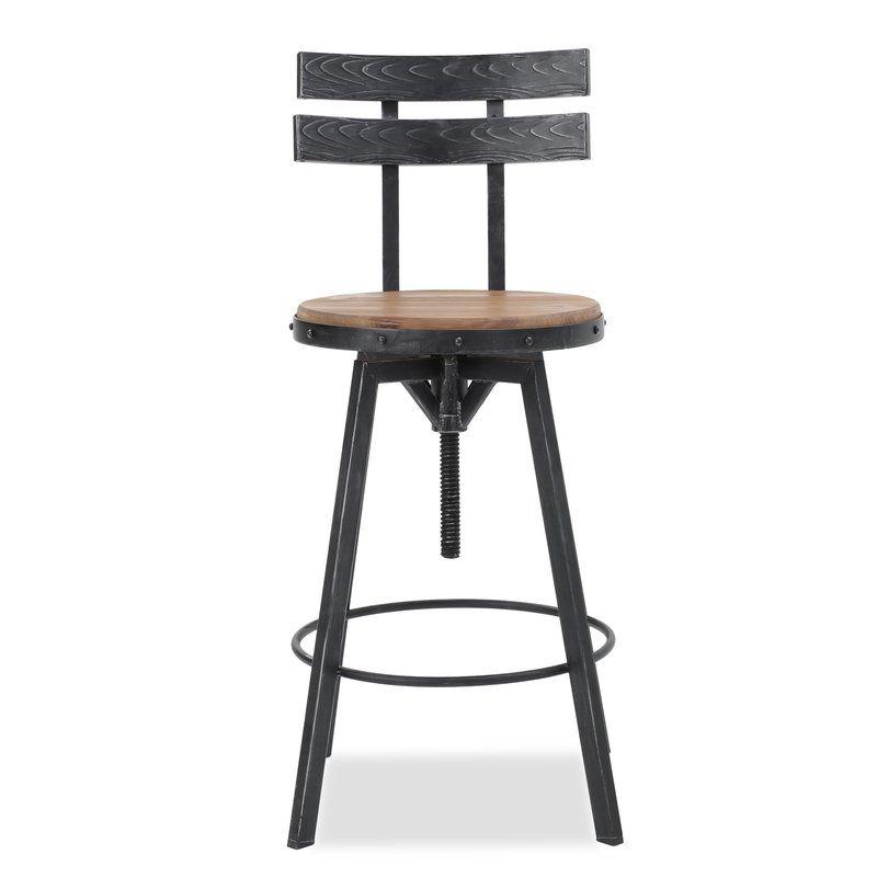 Miraculous Julianna Adjustable Height Swivel Bar Stool In 2019 Machost Co Dining Chair Design Ideas Machostcouk