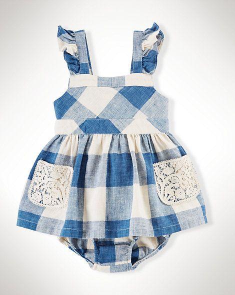 a66e2fe5321f Ruffled Gingham Dress - Dresses   Rompers Baby Girl 0 - 24 Months - Ralph  Lauren UK