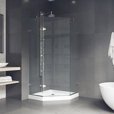 Vigo Verona 36 13 X 76 75 Neo Angle Hinged Shower Enclosure With