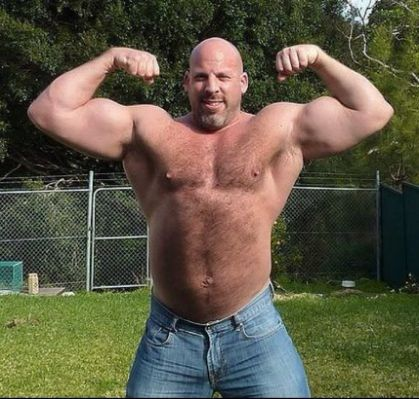 Big hairy muscle men