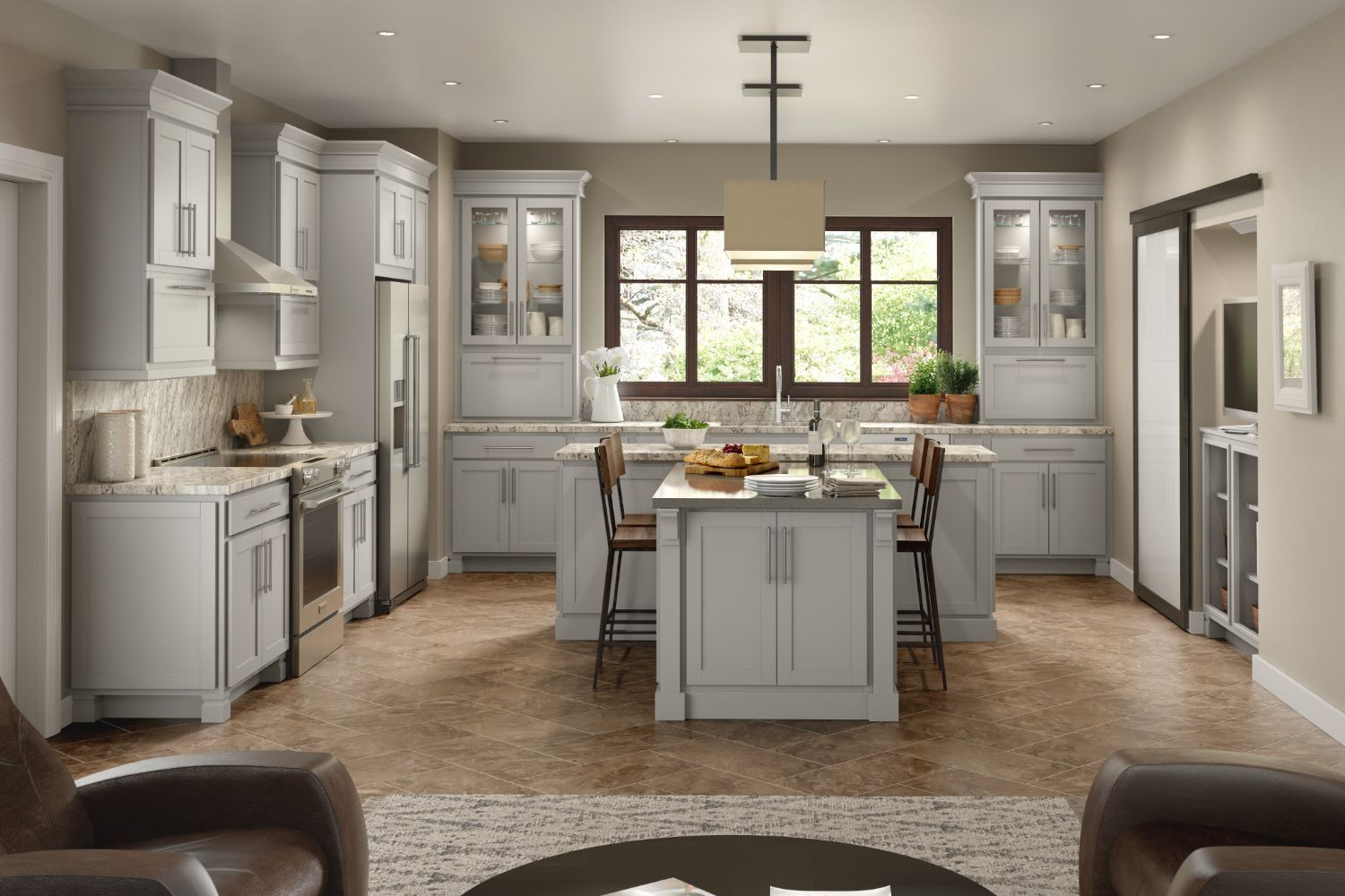 Contemporary Style Kitchen Cabinets | Audrey Collection | House ...