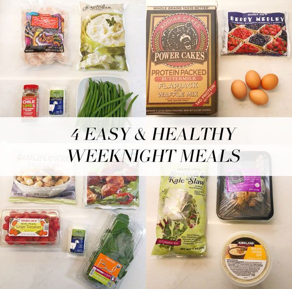 4 easy & healthy weeknight meals! #healthyweeknightmeals