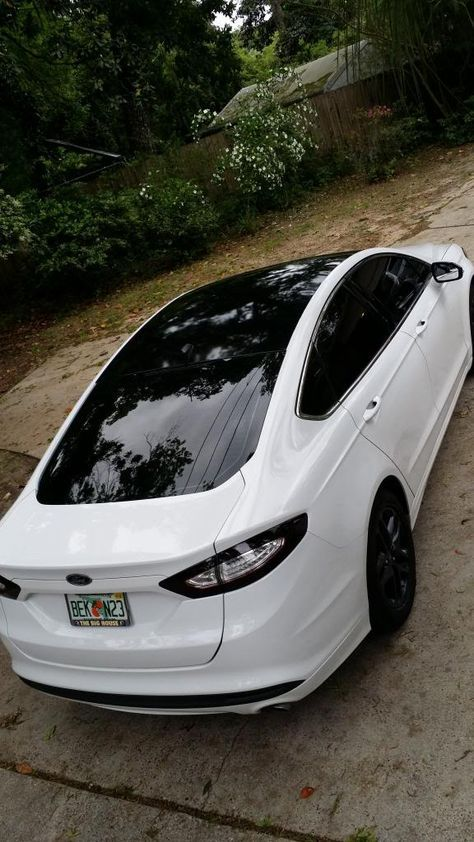Ford Fusion With A Few Visual Mods Black Vinyl Roof Tint Tail