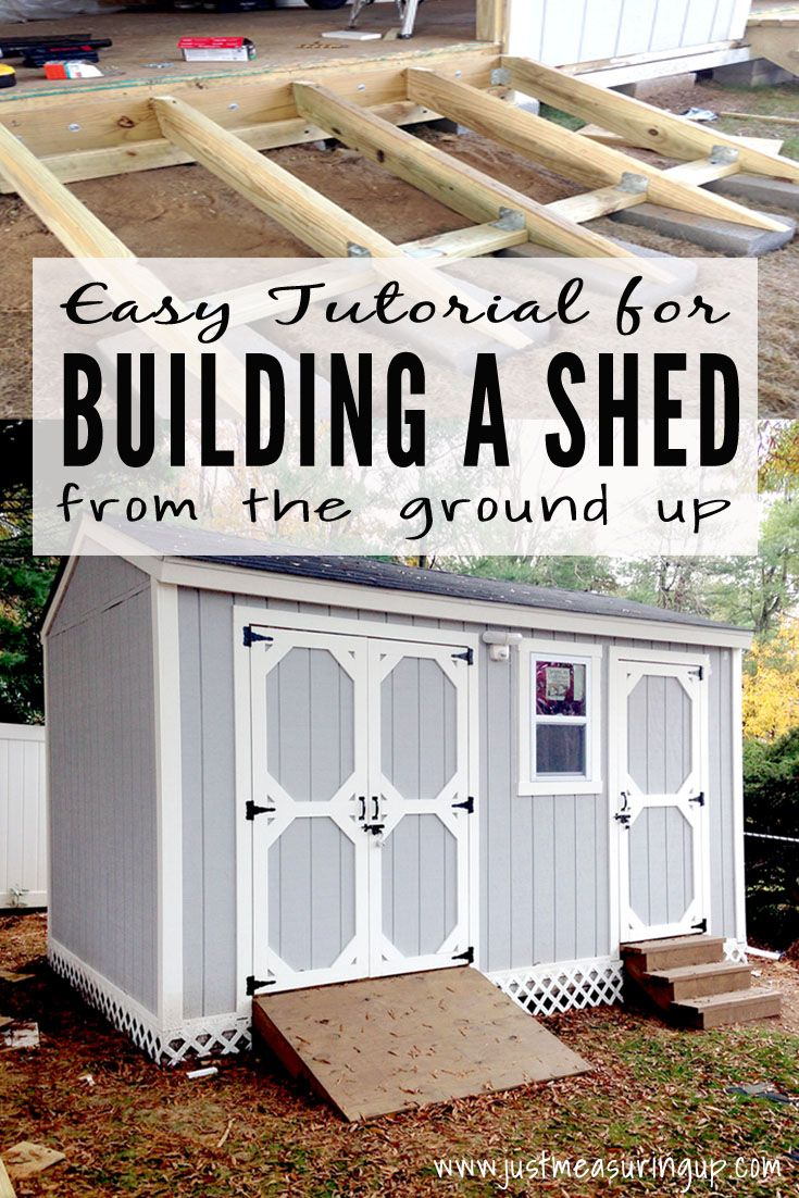 How to Build a Shed from Scratch - Easy, Step-by-Step Tutorial for ...