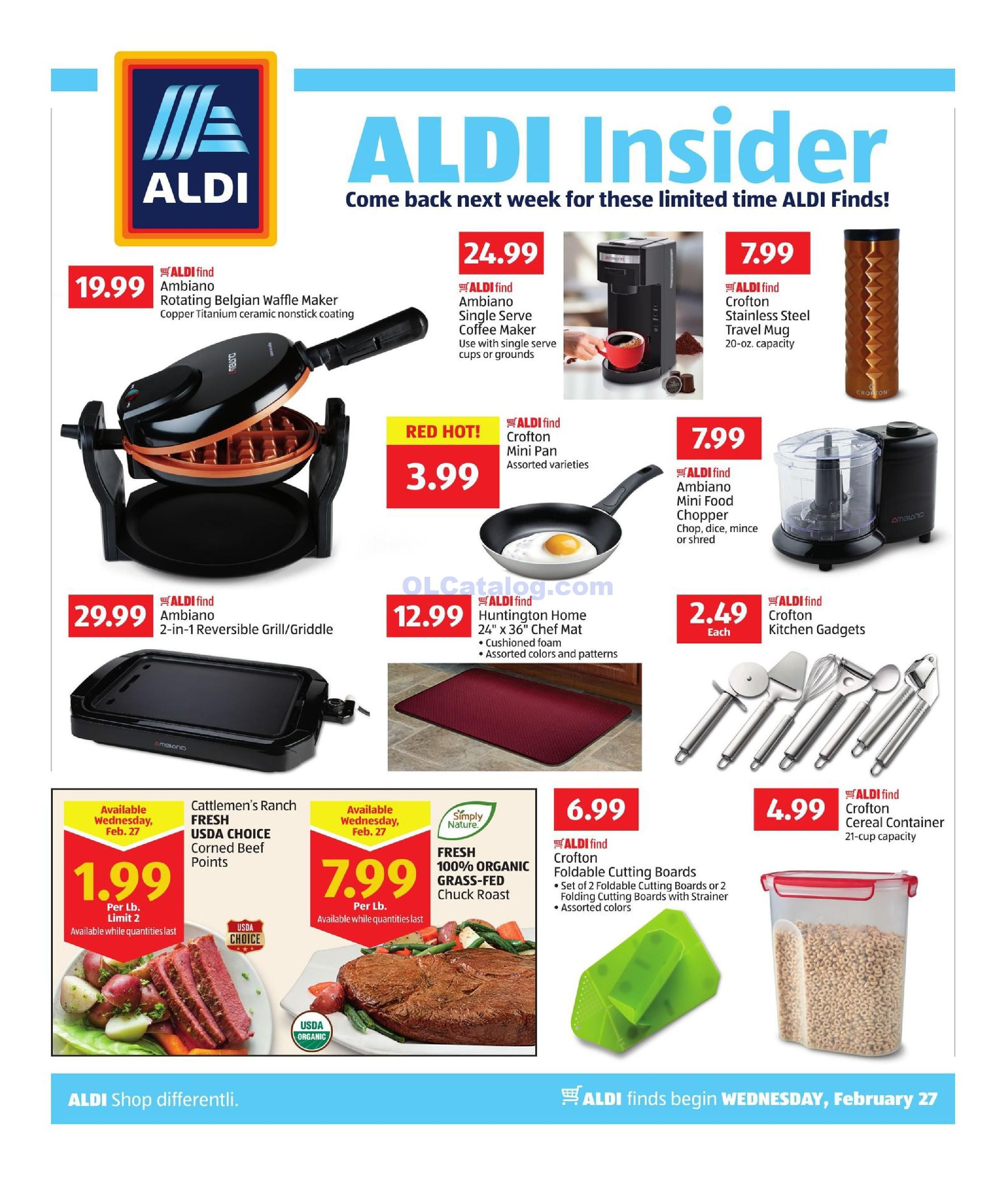 Aldi Weekly Ad February 27 March 5 2019 View The Latest Aldi Flyer And Weekly Circular Ad For Aldi Here Likewise You Can F Aldi Weekly Ads Grocery Savings